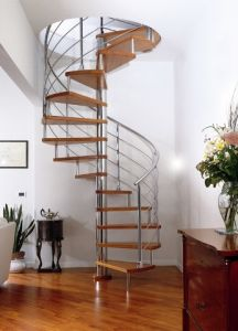 Home Decorative Customized Indoor Carbon Steel Spiral Metal Stair pictures & photos