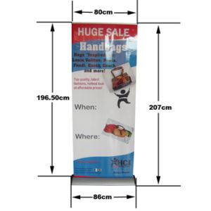 Advertising Easy Change Graphic Rollup Stand Aluminum Banner Stand (SR-09) pictures & photos