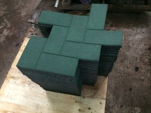 Outdoor Rubber Tile Gym Rubber Tiles Square Rubber Tile Colorful  Rubber  Paver pictures & photos
