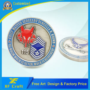Custom Wholesale Souvenir Military Navy Police Metal Challenge Coin Manufacturer (XF-CO10) pictures & photos