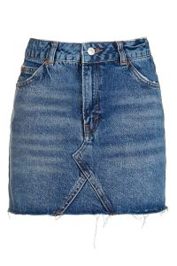Lady′s Denim Skirt with Grinding