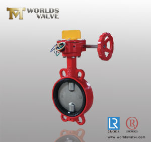 NBR Seat Gear Stainless Steel Disc Wafer Butterfly Valve pictures & photos