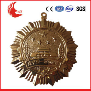 Antique New Design Star Medal with 3D Logo pictures & photos