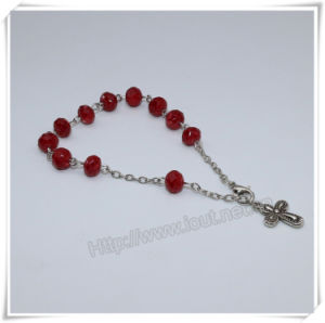New Colourful Section Glass Beads Catholic Rosary Bracelet on Chain (IO-CB183) pictures & photos