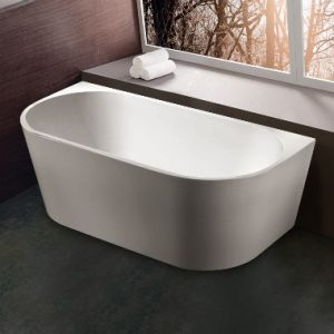 Cheap Freestanding Acrylic Bathtub with Stainless Steel Frame Support pictures & photos