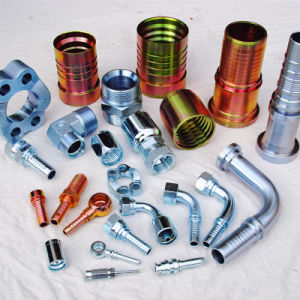Rubber Hose Hydraulic Pipe Fittings 9j Adaptors pictures & photos
