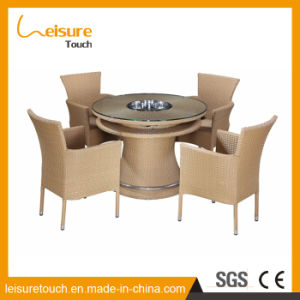 Rotatable Garden Coffee Shop Party Rattan Chair and Table for Glass Outdoor Furniture pictures & photos