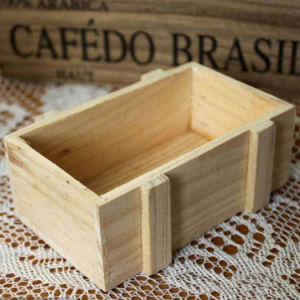 Natural Colors Wooden Square Storage Box pictures & photos