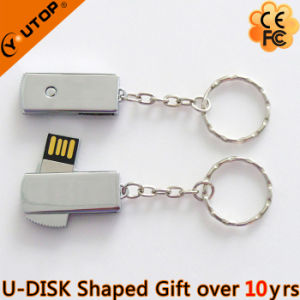 Laser Logo Metal Swivel USB Flash Drive for Present (YT-3221-01) pictures & photos