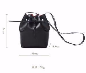 New Stylish Drawstring Women Bag PU Bucket Bag pictures & photos