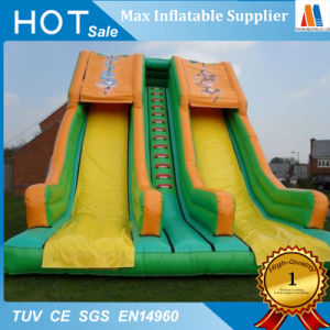 Giant PVC Tarpaulin Rental Inflatable Double Slide Toys pictures & photos