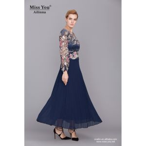 Miss You Ailinna 801673-2 Evening Dress for Muslim Women with Chiffon Sleeve pictures & photos