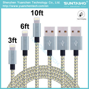 New Arrival Promotional 1m/V8 USB Port Charging and 2.0 USB Data Transfer Braided Fabric Cable pictures & photos