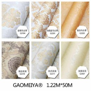 1.2m*50m PVC Self-Adhesive Wallpaper European Classical Style pictures & photos
