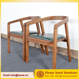 Classical Style Solid Wood Restaurant Furniture Chair with Armrest for Dining Room pictures & photos