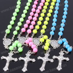 Wholesale Many Colours Catholic Chain Rosary Necklace with Virgin Mary Center & Metal Cross pictures & photos