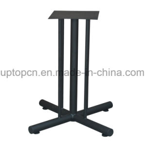 Restaurant Furniture Table with Special Longitudinal Stripes Cast Iron Leg (SP-RT480) pictures & photos