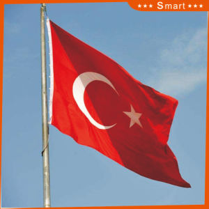 Custom Waterproof and Sunproof National Flag Turkey National Flag Model No.: NF-048 pictures & photos