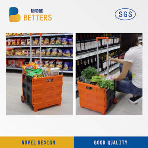 Manufacturers Convenient Plastic Foldable Shopping Basket pictures & photos