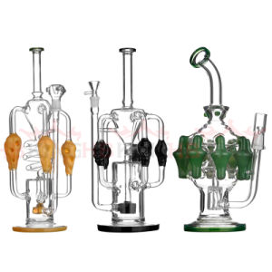 Hb King Wholesale Glass Water Pipe USA Color Glass Smoking Pipe Glass Hookah pictures & photos