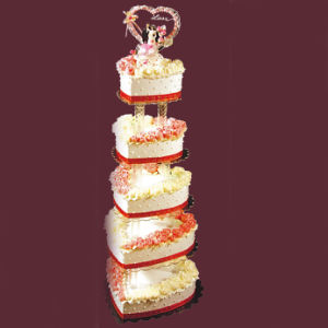Newest Acrylic Wedding Cake Display Stand pictures & photos