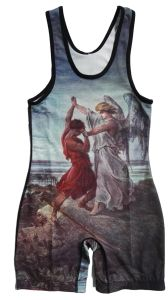 Customized Sublimation Men′s Tank Top Wrestling Singlet with Big Armhole pictures & photos