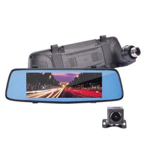 Super Night Vision 7.0inch Car DVR Rearview Mirror Camera Dual Lens Ldws Adas WDR Parking Dashcam 1080P Car Cam