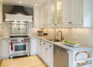 Pastoral Design PVC Film Kitchen Cabinets pictures & photos