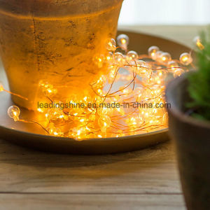 Home Decorations LED Copper Wire Glass Bubble Fairy Lights with Timer pictures & photos