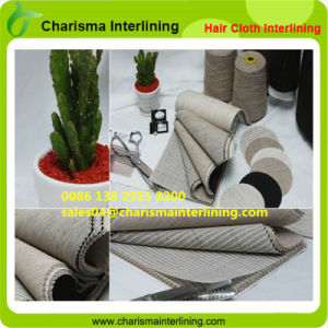 Wholesale cloth Horse Hair Interlining for Suits/Canvas pictures & photos