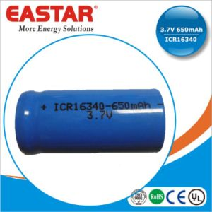 3.7V Icr 16340 Li-ion Rechargeable Battery for Communication Product pictures & photos
