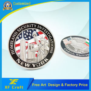 Wholesale Customized Souvenir Metal Challenge Coin with Free Artwork (XF-CO31) pictures & photos