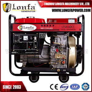Portable 5kVA 4kw Standby Open Diesel Generator with Large Fuel Tank pictures & photos