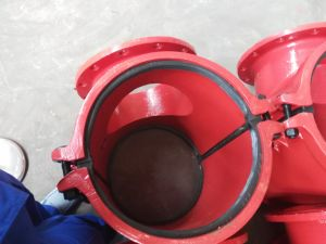 Hot Tapping Saddle P400X300 for PE, PVC Pipeline pictures & photos