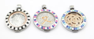316L Stainless Steel Floating Locket with Hard Enamel Top for Gift Jewelry pictures & photos