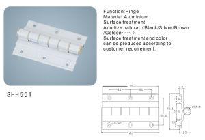 Aluminium Hinge for Doors and Windows/Hardware (SH-551) pictures & photos