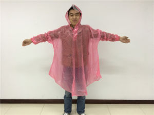 Promotion PVC Printed Bicycle Raincoat for Women pictures & photos