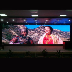P3 Brushed Aluminum Cabinet LED Screen / SMD Advertising Screen / Full Color Indoor Smart Board for pictures & photos