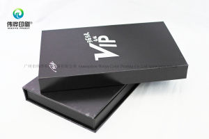 High Quality Paper Printing Flat Gift Box with Sliver Hot Stamping pictures & photos