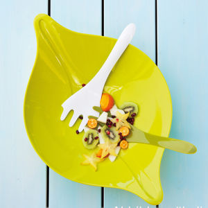 Beautiful Green Leaf Salad Bowl pictures & photos