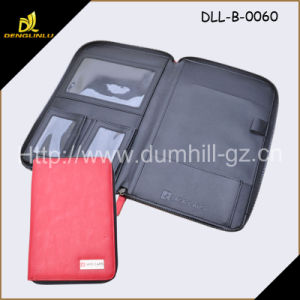 Document File Zipper A5 Folder with Notepad PU