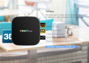 2017 Amlogic S912 2GB 16GB Kodi 17.0 Bluetooth Android TV Box T95r PRO with WiFi 2.4G 5g pictures & photos