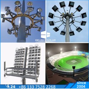 30m Octagonal Telescoping Lift Outdoor Flood Light LED High Mast pictures & photos