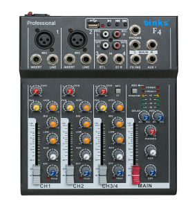 F4 Professional Audio Sound Low Price Mixing Console pictures & photos