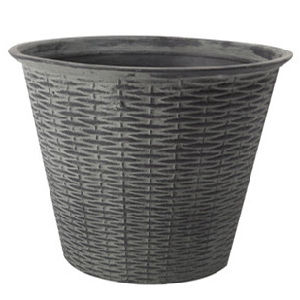Garden Plastic Pot Cane Pattern Flower Pot