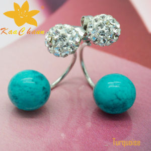 Smer-006 Light Green Color 10mm Turquoise Designer Earrings pictures & photos