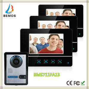 7 Inch TFT Touch Screen Color LCD Video Door Phone Doorbell Wired Video Intercom 3 Monitor pictures & photos