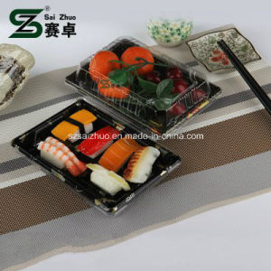 Floral Printed Top Grade Disposable Plastic Sushi Box (S03) pictures & photos