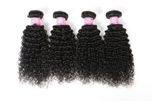 Brazilian Vingin Human Hair Kinky Curly Human Hair Weft pictures & photos