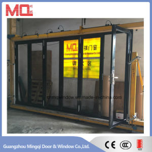 Black Finished Thermal Break Aluminum Bi Fold Door Price in Guangzhou pictures & photos